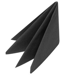 Swantex Black Napkins 33cm 2ply (Pack of 100)